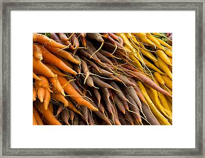 Framed Print featuring the photograph Carrots by Michael Friedman