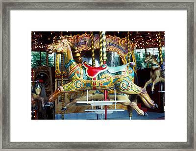 Carrouse Horse Paris France Framed Print by Garry Gay