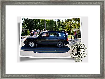 Cars Crossing 109 Framed Print