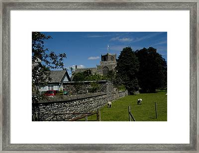 Cartmel Priory From The Causeway Framed Print by Peter Jenkins