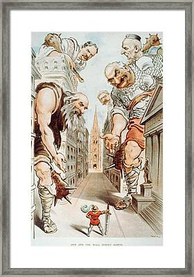 Cartoon Depicts  President Theodore Framed Print by Everett
