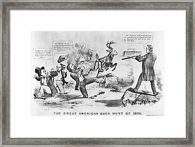 Cartoon: Election Of 1856 Framed Print by Granger
