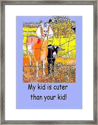 Cartoon Kid Framed Print by Myrna Migala