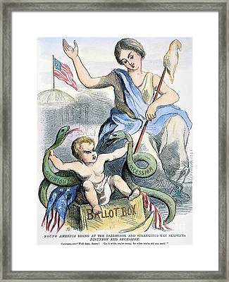 Cartoon: Young America Framed Print by Granger