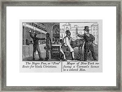Cartoons Depicting The Racial Framed Print by Everett