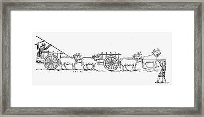 Carts, 11th Century Framed Print by Granger