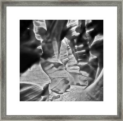 Carved By Water  Framed Print
