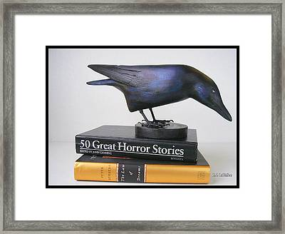 Carved Crow  Framed Print