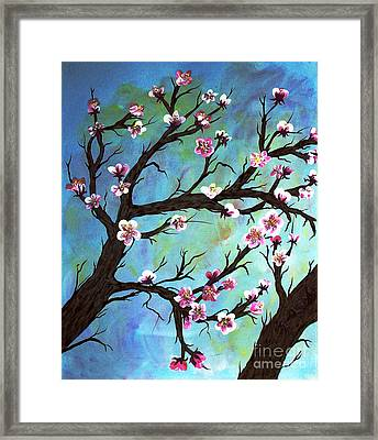 Carved In A Cherry Tree I Framed Print by Barbara Griffin