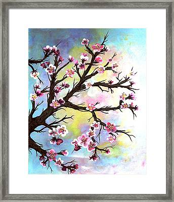 Carved In A Cherry Tree I I Framed Print by Barbara Griffin