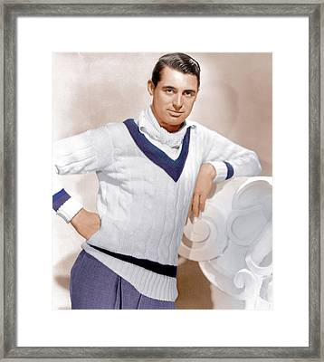 Cary Grant, Ca. 1934 Framed Print by Everett