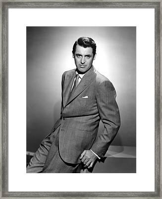 Cary Grant, Ca. 1940s Framed Print by Everett