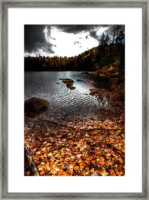 Cary Lake After The Storm Framed Print by David Patterson
