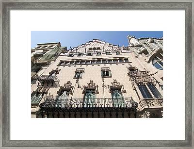 Casa Amatller Building Barcelona Framed Print by Matthias Hauser