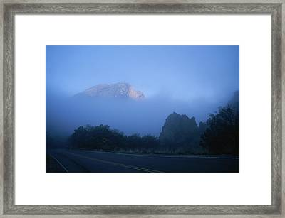 Casa Grande, A Peak In The Chisos Framed Print