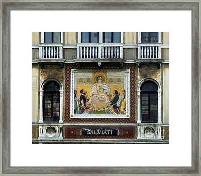 Casa Salviati -  Palace Of The Murano Glassblowers Framed Print by Gregory Dyer