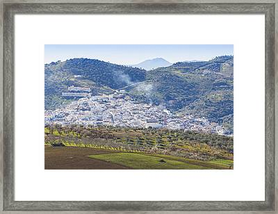 Casabermeja. White Village, Southern Spain. Framed Print by Ken Welsh