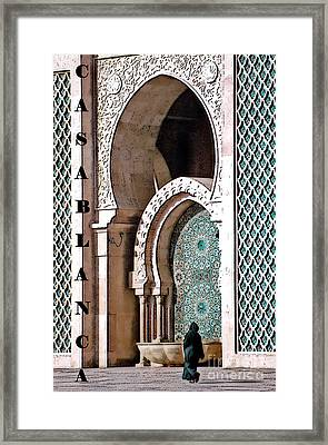 Casablanca Mosque Framed Print by Linda  Parker