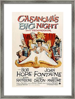 Casanovas Big Night, Joan Fontaine, Bob Framed Print