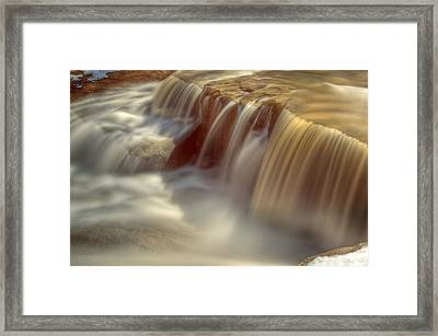 Cascade At Blue Hen Falls Framed Print by Jennifer Grover