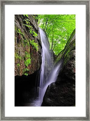 Cascade Falls Framed Print by Tina Karle