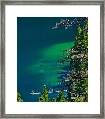 Cascade Lake Inlet Delta Framed Print