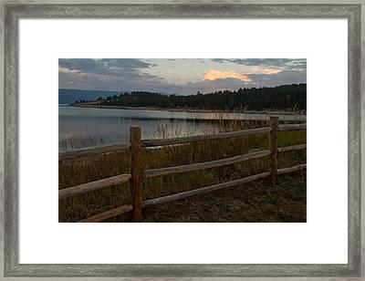 Cascade Lake Sunrise Framed Print by Larry Fry