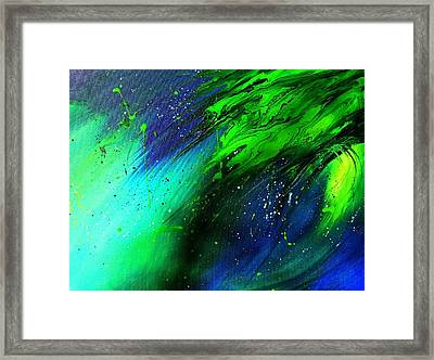 Cascade Framed Print by Mary Kay Holladay