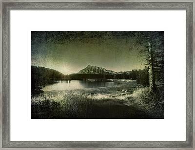 Cascade Pond Banff Framed Print
