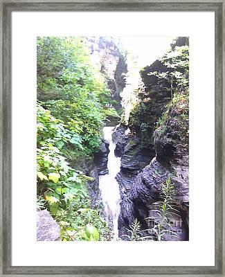 Cascade Framed Print by Valerie Shaffer