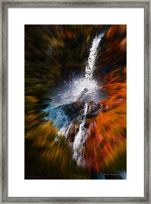 Framed Print featuring the photograph Cascade Waterfall by Mick Anderson