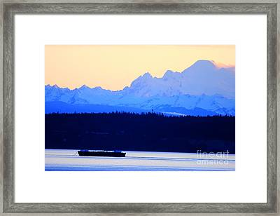 Washington Puget Sound Cascade Waterway Framed Print