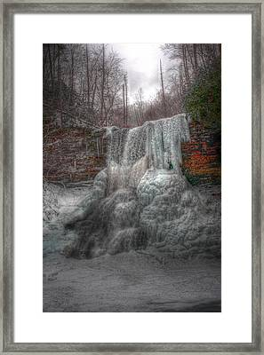 Cascades In Winter 3 Framed Print