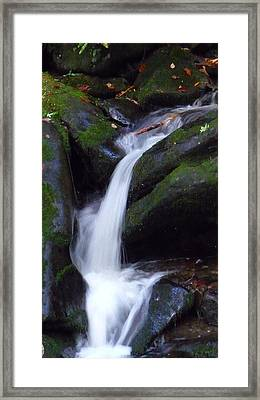 Cascading Angel Hair Framed Print by Michael Carrothers