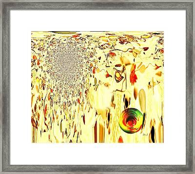 Cascading Glace Framed Print by Jan Steadman-Jackson