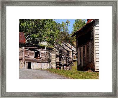 Cascading History  Framed Print