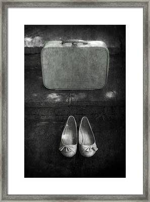 Case And Shoes Framed Print by Joana Kruse