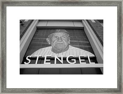 Casey Stengel In Black And White Framed Print by Rob Hans