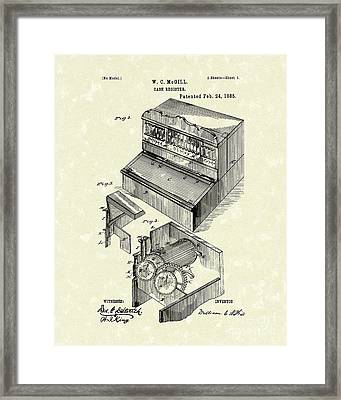 Cash Register 1885 Patent Art Framed Print