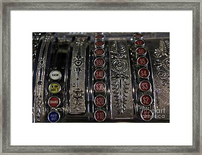 Framed Print featuring the photograph Cash Register by Nina Prommer