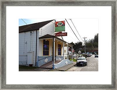 Casino Bar And Grill . Bodega Bay . Town Of Bodega . California . 7d12443 Framed Print by Wingsdomain Art and Photography