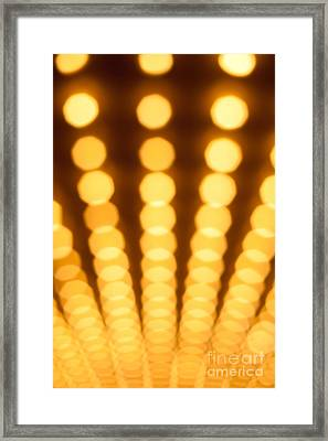 Casino Lights Out Of Focus Framed Print by Paul Velgos