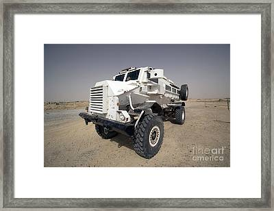 Casper Armored Vehicle Sits Framed Print by Terry Moore
