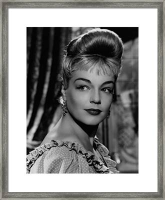 Casque Dor, Simone Signoret, 1952 Framed Print by Everett
