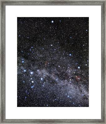 Cassiopeia And Cepheus Constellations Framed Print by Eckhard Slawik
