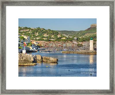 Cassis - Harbour And Lighthouse 2 Framed Print by Rod Jones