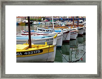 Cassis Boats Framed Print by Brian Jannsen