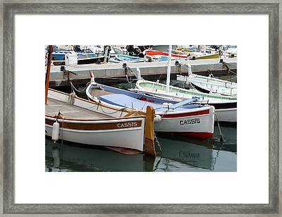 Cassis Harbor Framed Print by Carla Parris