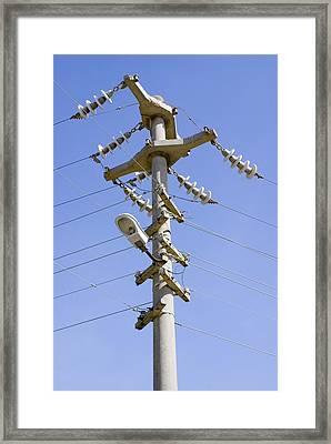 Cast Concrete Electricity Pylon. Framed Print