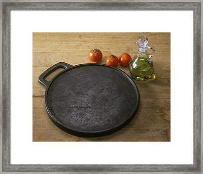 Cast Iron Skillet Framed Print by Sheila Terry